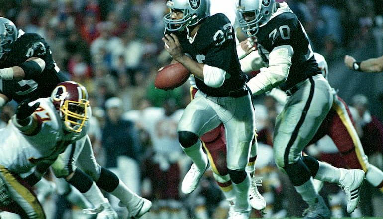 Il Super Bowl XVIII del 1984 a Tampa tra Raiders e Redskins