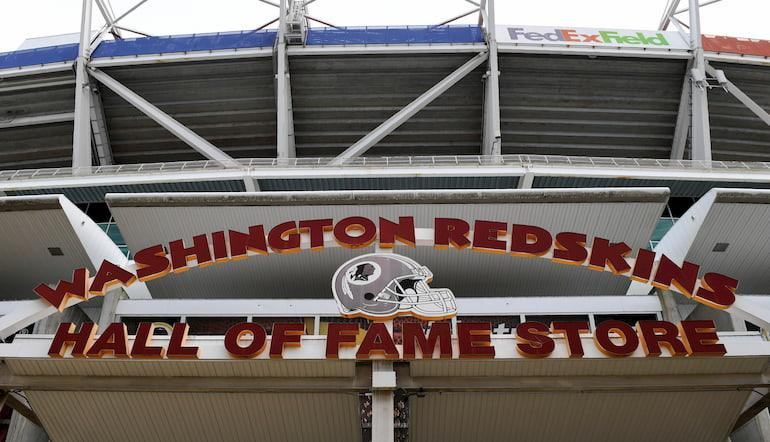 Una tribuna del FedEx Field in Landover